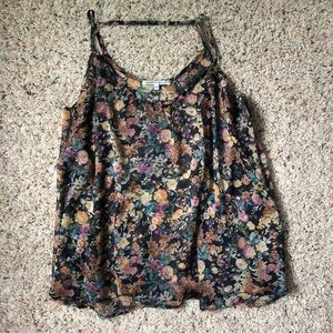 Collective concepts sheer floral tank